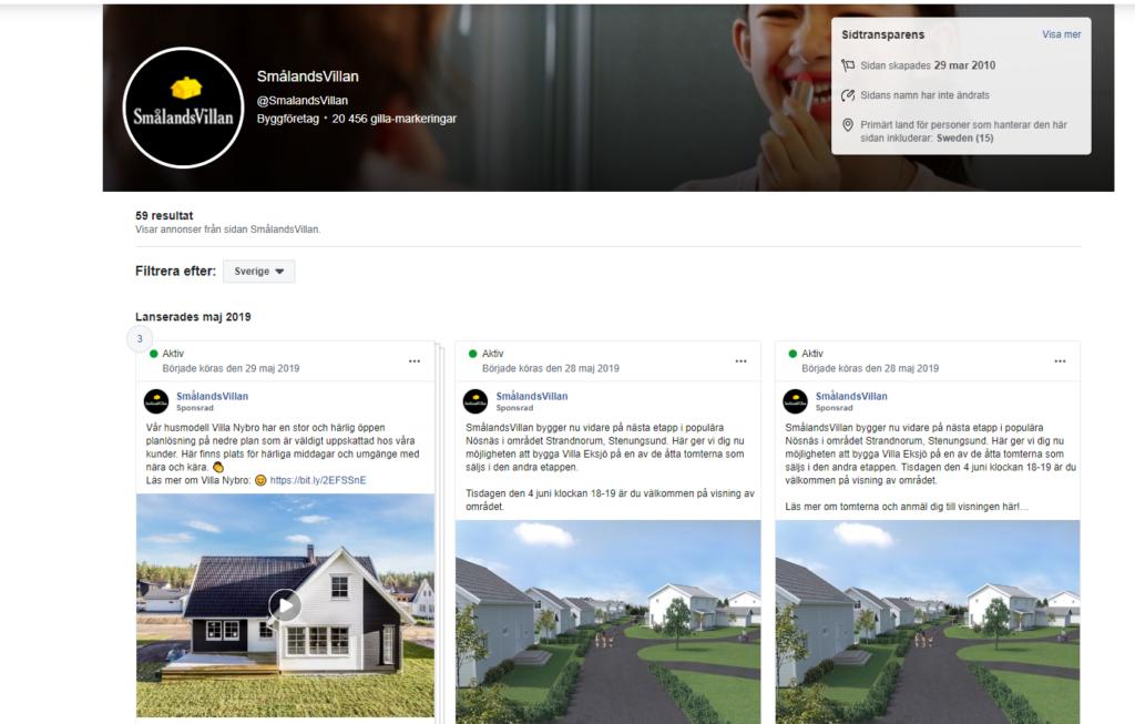 Facebook annonsbibliotek tillater dig att spionera pa dina konkurrenter